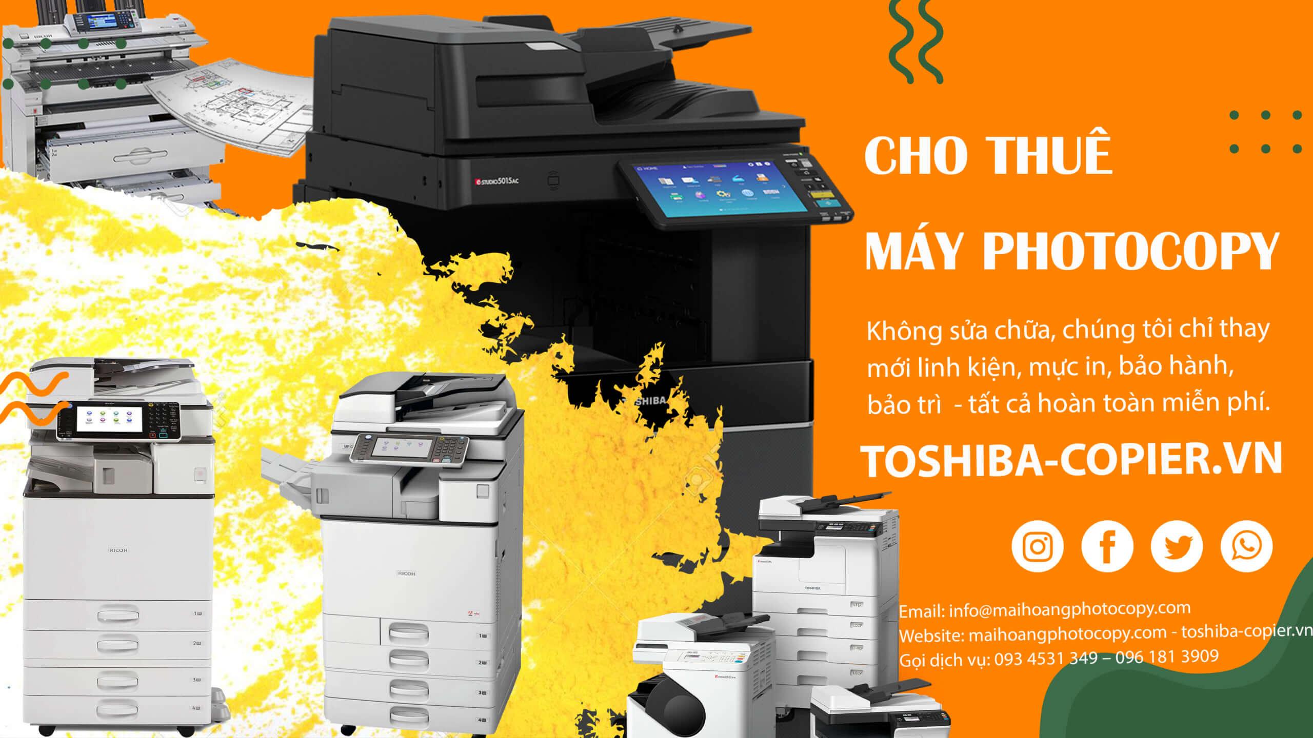 chi phí thuê máy photocopy là bao nhiêu
