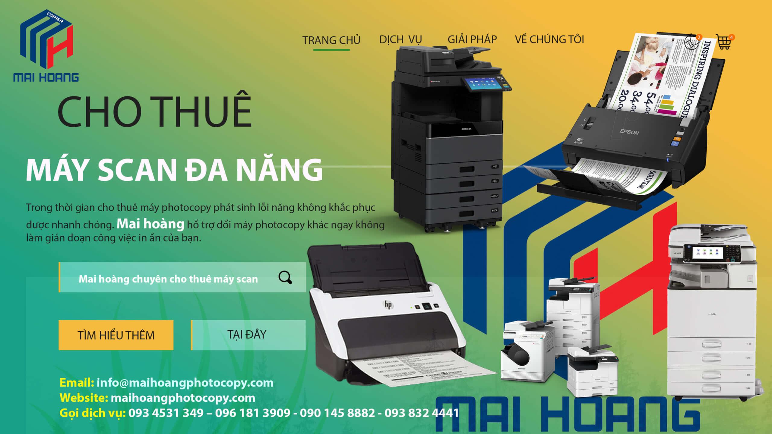 Bảng giá Dịch vụ cho thuê máy Photocopy ở Khu Công Nghiệp Cầu Tràm