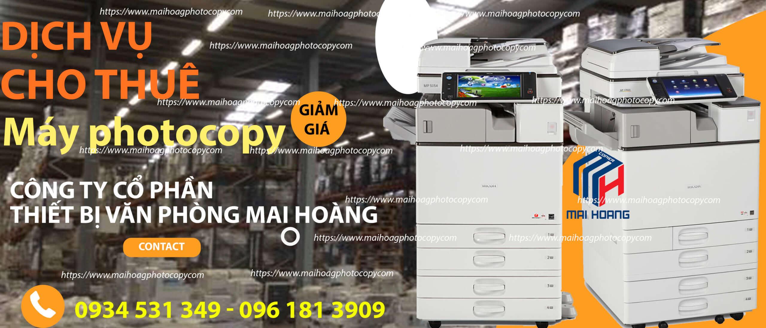 Bảng giá Dịch vụ cho thuê máy Photocopy ở Khu Công Nghiệp tân lập, cần giuộc, Long An