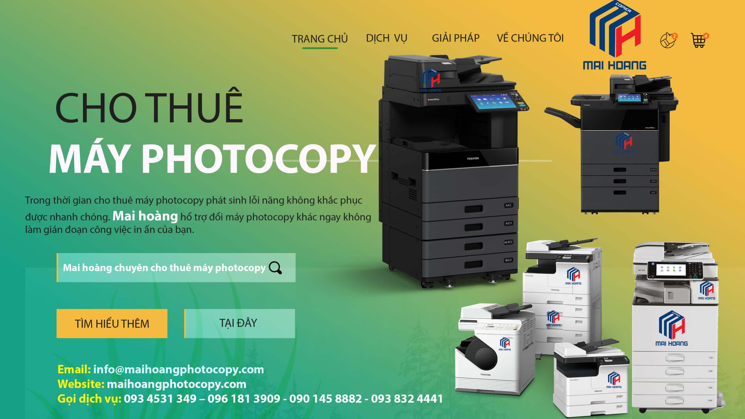 Bảng giá Dịch vụ cho thuê máy Photocopy ở Khu Công Nghiệp Tân Bửu - Phúc Long
