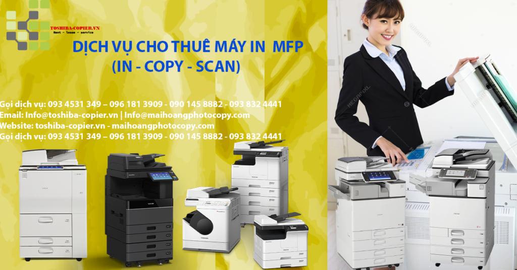 Bảng Giá Dịch Vụ Cho Thuê Máy Photocopy - Máy in Khu Công Nghiệp Sóng Thần - Bình Dương