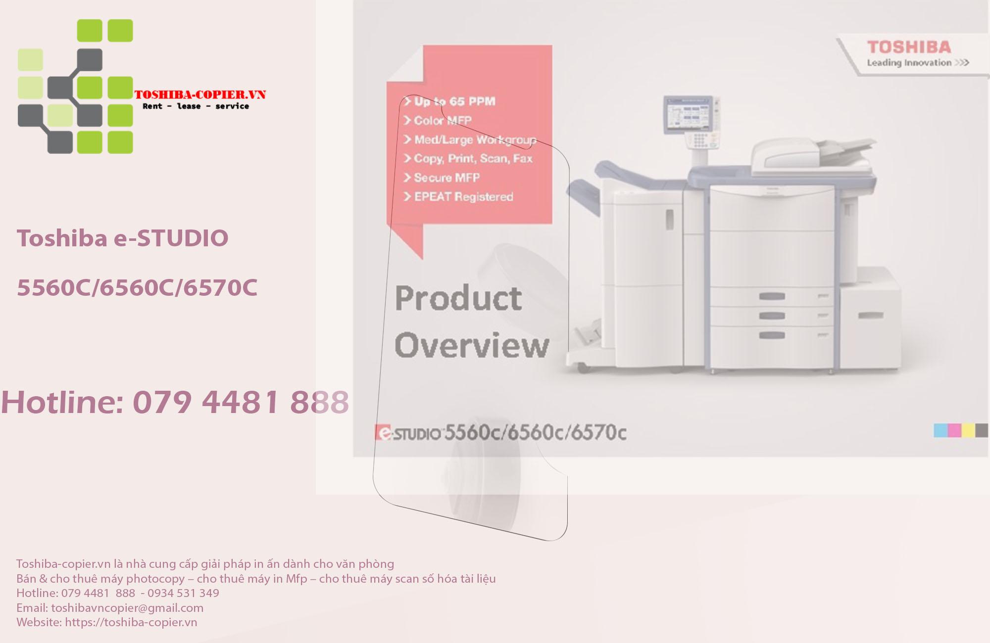 Cho Thuê Máy Photocopy Toshiba Màu e-STUDIO E5560C/6560C/6570C