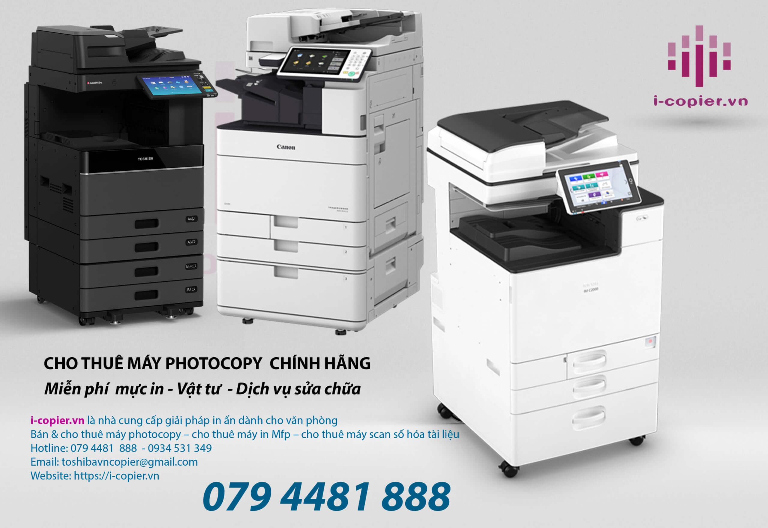 Cho Thuê máy photocopy màu là giải pháp hiệu quả nhất dành cho văn phòng, Không mất chi phí đầu tư,